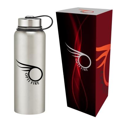 40 Oz. Stainless Steel Invigorate Bottle with Custom Box