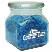 Small Square Jar w/ Spa Bath Crystals