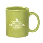 11 Oz. Colored Stoneware Mug with C-Handle - Colors