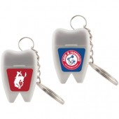 Tooth Shaped Dental Floss Key Chain